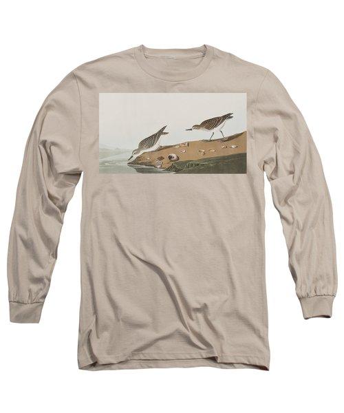 Semipalmated Sandpiper Long Sleeve T-Shirt by John James Audubon