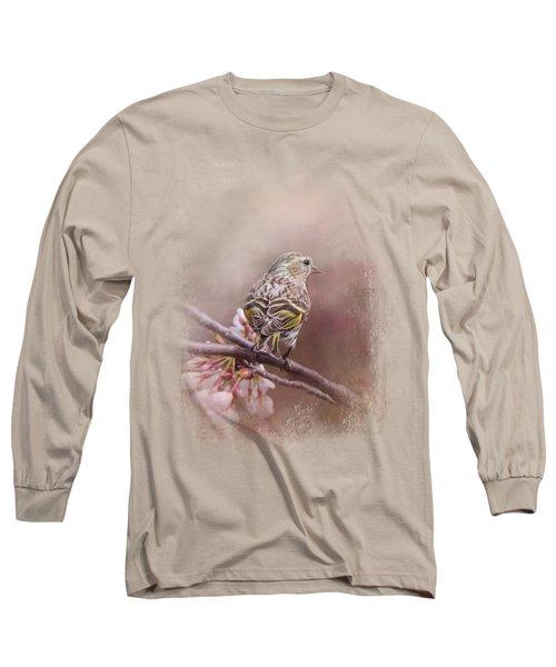 Siskin In The Garden Long Sleeve T-Shirt by Jai Johnson