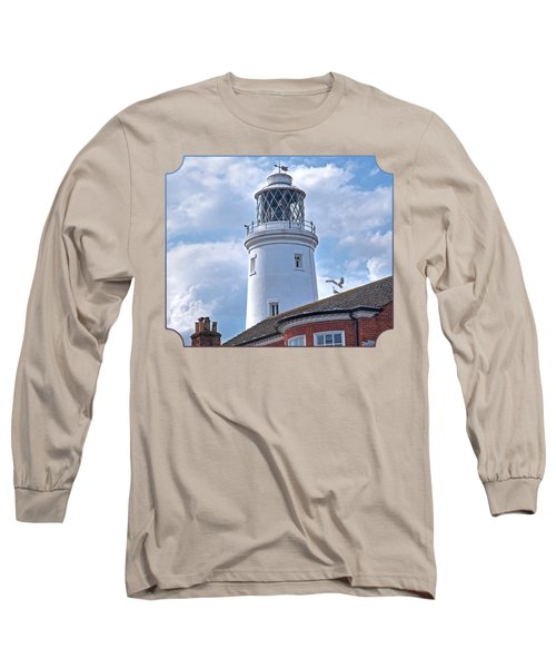 Sky High - Southwold Lighthouse Long Sleeve T-Shirt by Gill Billington