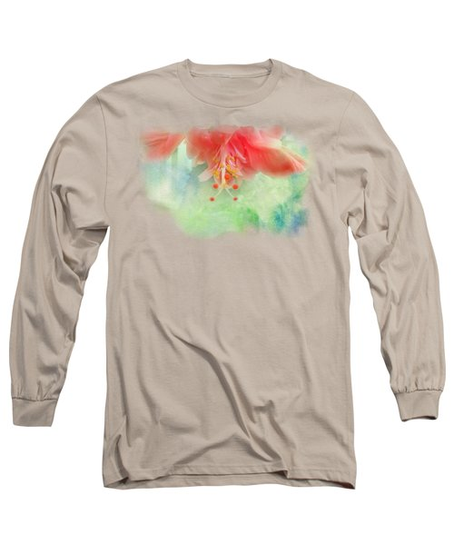 Softly Colored 1 Long Sleeve T-Shirt by Judy Hall-Folde