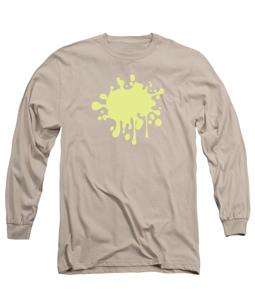 Solid Yellow Pastel Color Long Sleeve T-Shirt by Garaga Designs