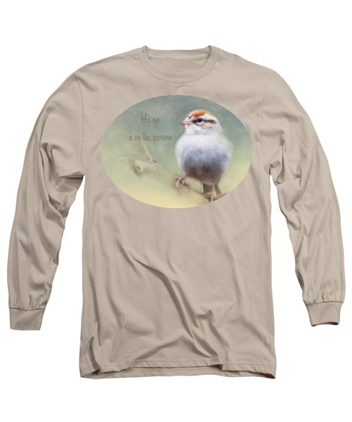 Serendipitous Sparrow - Phrase Long Sleeve T-Shirt by Anita Faye