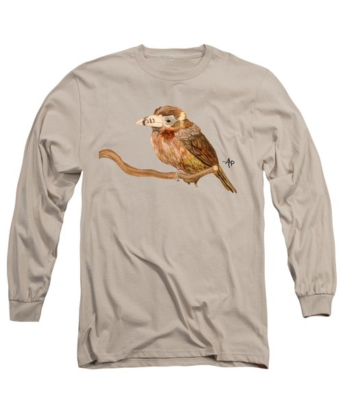 Spot-billed Toucanet Long Sleeve T-Shirt by Angeles M Pomata