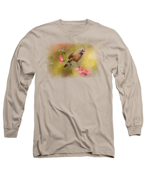 Spring Cardinal 1 Long Sleeve T-Shirt by Jai Johnson