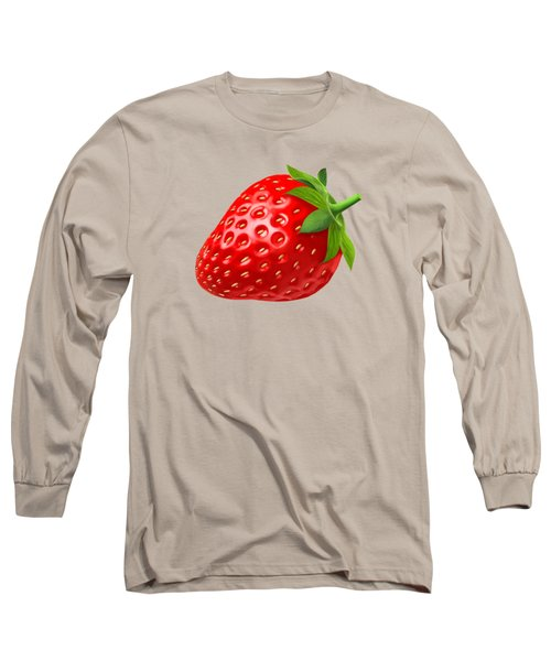 Strawberry Long Sleeve T-Shirt by T Shirts R Us -