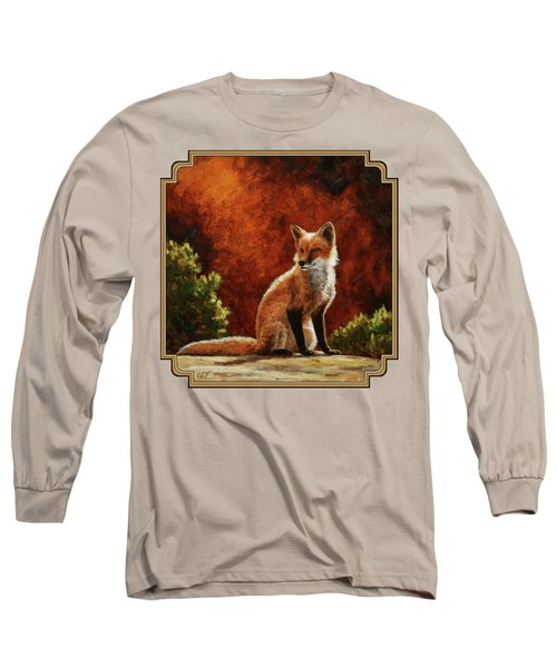 Sun Fox Long Sleeve T-Shirt by Crista Forest