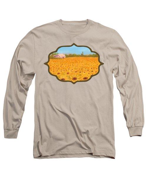 Sunflower Field Long Sleeve T-Shirt by Anastasiya Malakhova