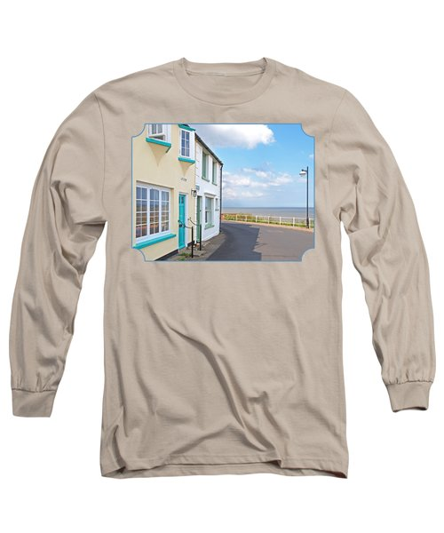 Sunny Outlook - Southwold Seafront Long Sleeve T-Shirt by Gill Billington
