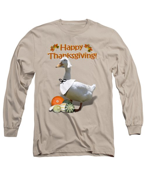 Thanksgiving Pilgrim Duck Long Sleeve T-Shirt by Gravityx9  Designs