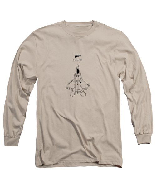 The F-22 Raptor Long Sleeve T-Shirt by Mark Rogan