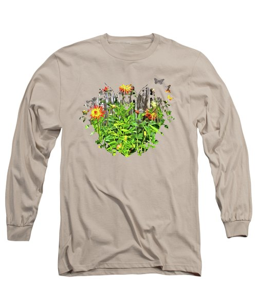 The Flowers Along The Fence  Long Sleeve T-Shirt by Thom Zehrfeld