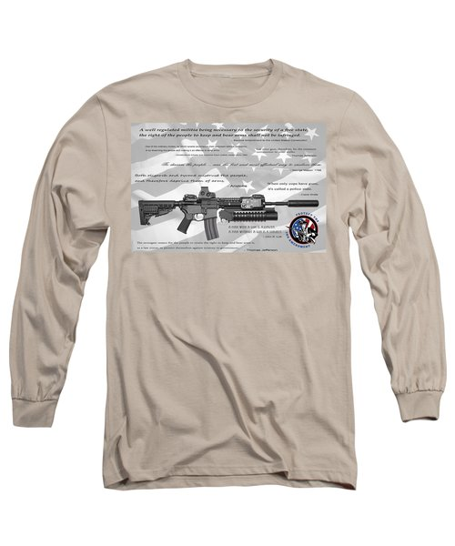 The Right To Bear Arms Long Sleeve T-Shirt by Daniel Hagerman