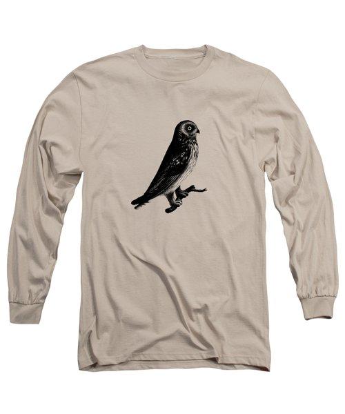 The Short Eared Owl Long Sleeve T-Shirt by Mark Rogan