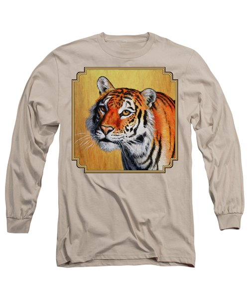 Tiger Portrait Long Sleeve T-Shirt by Crista Forest