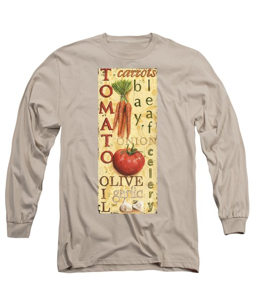 Tomato Soup Long Sleeve T-Shirt by Debbie DeWitt