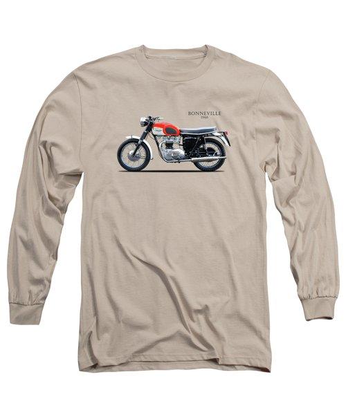Triumph Bonneville 1966 Long Sleeve T-Shirt by Mark Rogan