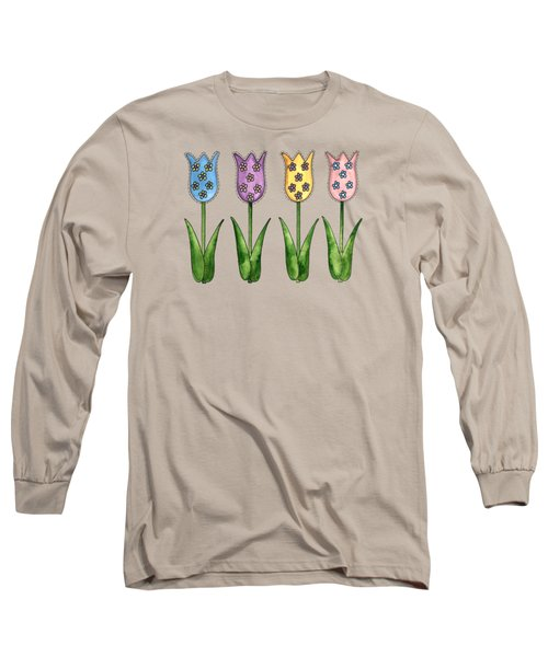 Tulip Row Long Sleeve T-Shirt by Shelley Wallace Ylst
