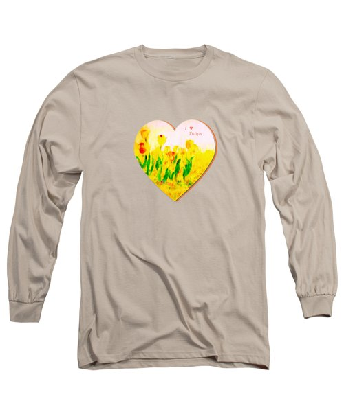 Tulips In Springtime-floral Painting By V.kelly Long Sleeve T-Shirt by Valerie Anne Kelly