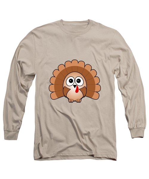 Turkey - Birds - Art For Kids Long Sleeve T-Shirt by Anastasiya Malakhova