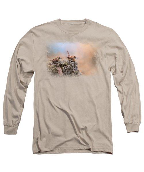 Two Little Wrens Long Sleeve T-Shirt by Jai Johnson