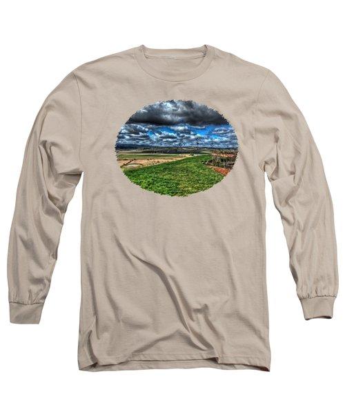 Van Duzer Vineyards View Long Sleeve T-Shirt by Thom Zehrfeld