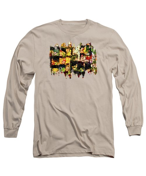 Veggies And Fruit Galore Long Sleeve T-Shirt by Thom Zehrfeld