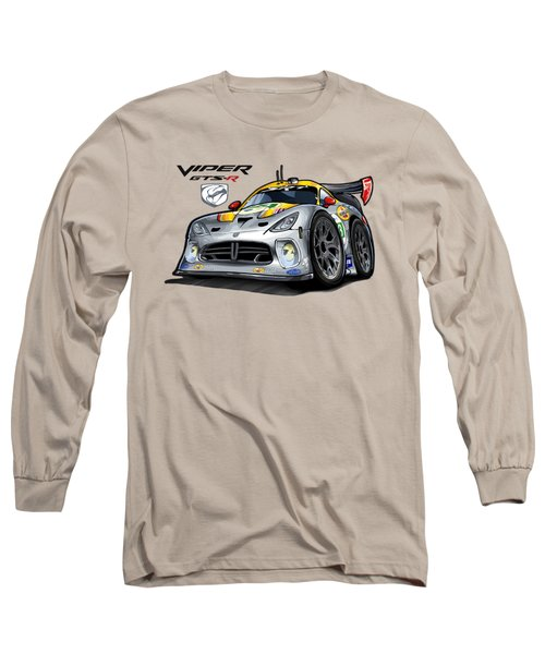 Viper Gts-r Car-toon Long Sleeve T-Shirt by Steven Dahlen