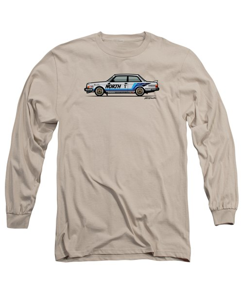 Volvo 240 242 Turbo Group A Homologation Race Car Long Sleeve T-Shirt by Monkey Crisis On Mars