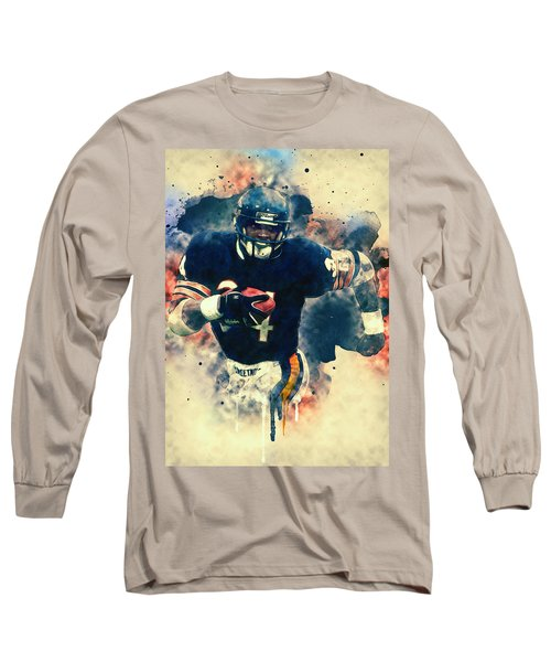 Walter Payton Long Sleeve T-Shirt by Taylan Apukovska