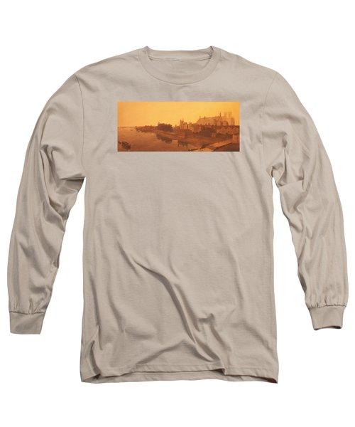 Westminster Abbey  Long Sleeve T-Shirt by Peter de Wint