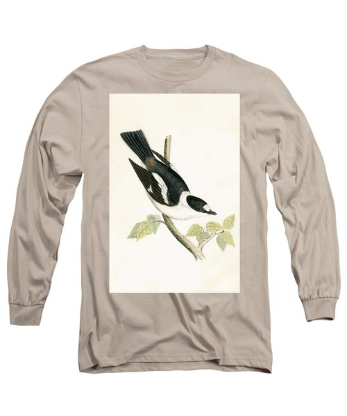 White Collared Flycatcher Long Sleeve T-Shirt by English School
