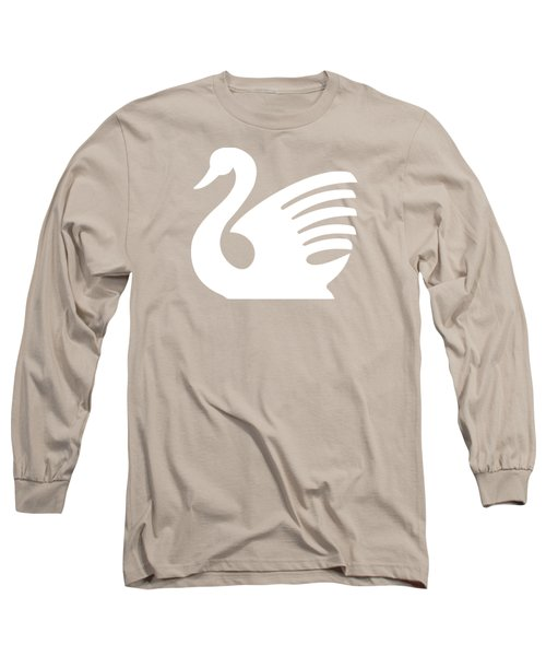 White Swan Long Sleeve T-Shirt by Maria Astedt