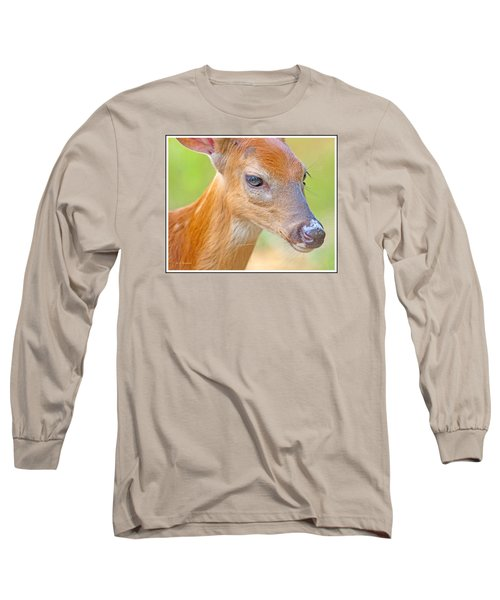 Long Sleeve T-Shirt featuring the photograph Whitetailed Deer Fawn Portrait by A Gurmankin