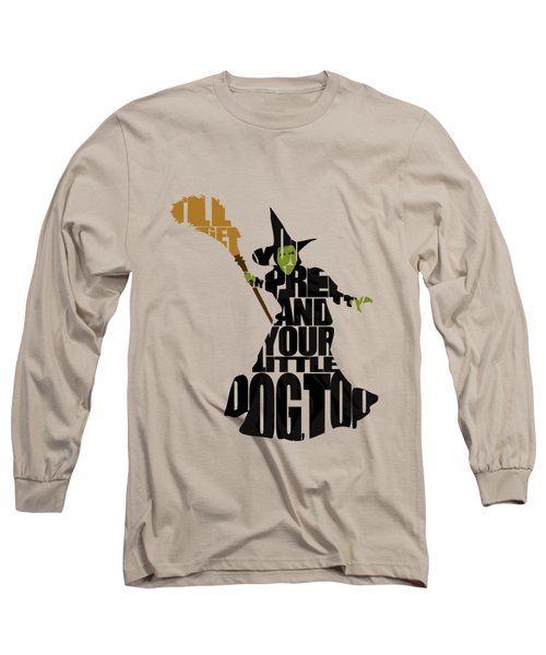 Wicked Witch Of The West Long Sleeve T-Shirt by Ayse Deniz