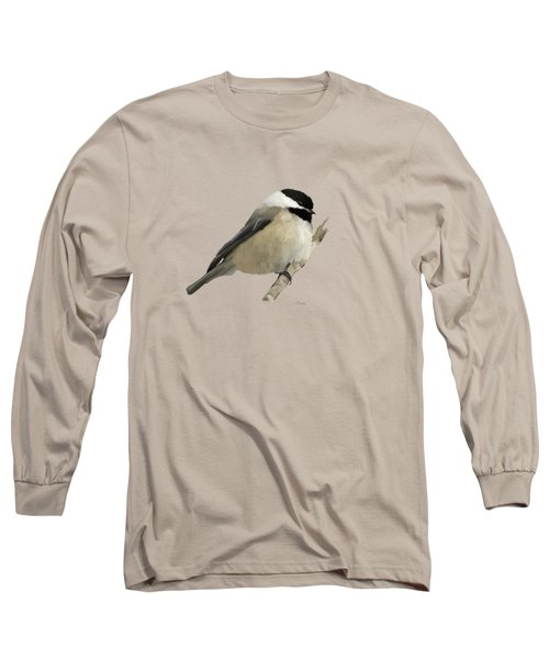 Willow Tit Long Sleeve T-Shirt by Bamalam  Photography