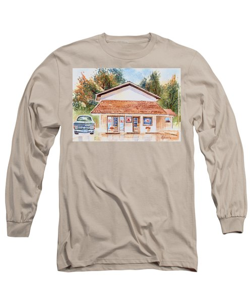 Woodcock Insurance In Watercolor  W406 Long Sleeve T-Shirt by Kip DeVore