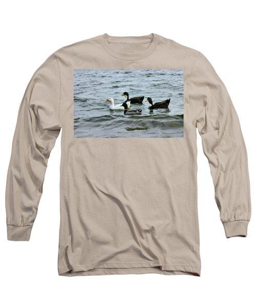 Yak Yak Yak One In Every Crowd Long Sleeve T-Shirt by Kristin Elmquist