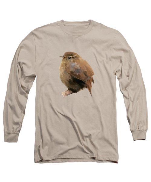 Young Female Blackbird - Turdus Merula Long Sleeve T-Shirt by Bamalam  Photography