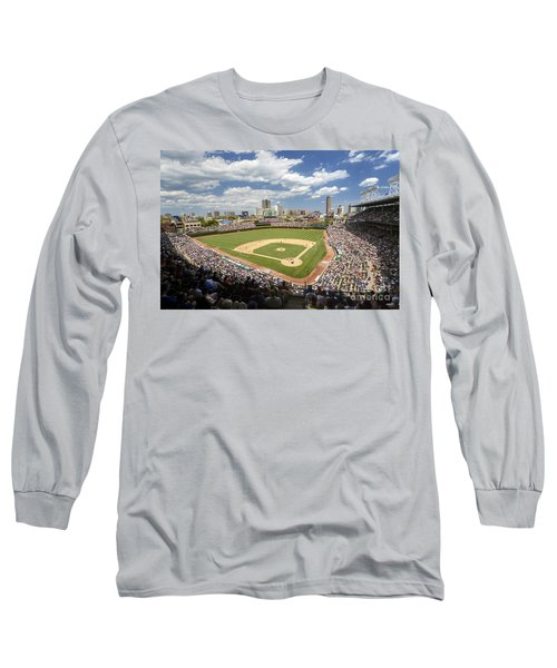 0415 Wrigley Field Chicago Long Sleeve T-Shirt by Steve Sturgill