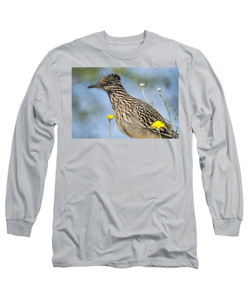 The Greater Roadrunner  Long Sleeve T-Shirt by Saija  Lehtonen