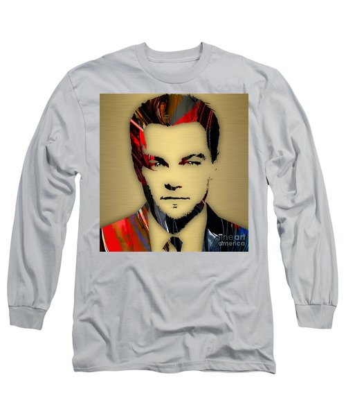 Leonardo Dicaprio Collection Long Sleeve T-Shirt by Marvin Blaine