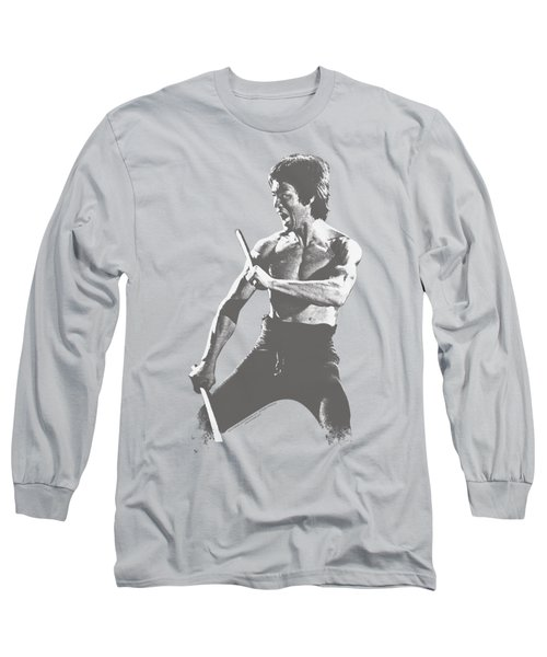 Bruce Lee - Chinese Characters Long Sleeve T-Shirt by Brand A