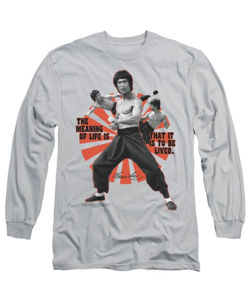 Bruce Lee - Meaning Of Life Long Sleeve T-Shirt by Brand A