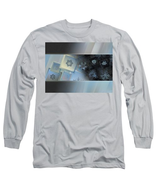 Snowflake Collage - Daybreak Long Sleeve T-Shirt by Alexey Kljatov
