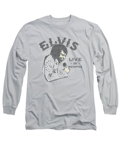 Elvis - Live In Memphis Long Sleeve T-Shirt by Brand A