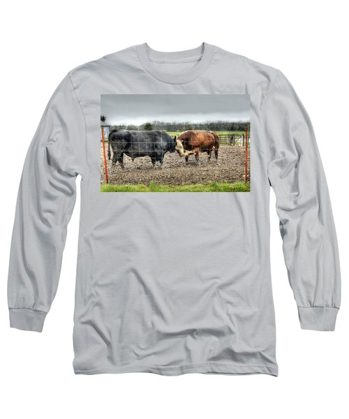 Head To Head Long Sleeve T-Shirt by Cricket Hackmann