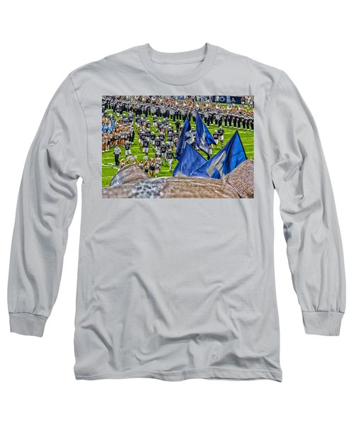 Lion Watching The Entrance Long Sleeve T-Shirt by Tom Gari Gallery-Three-Photography