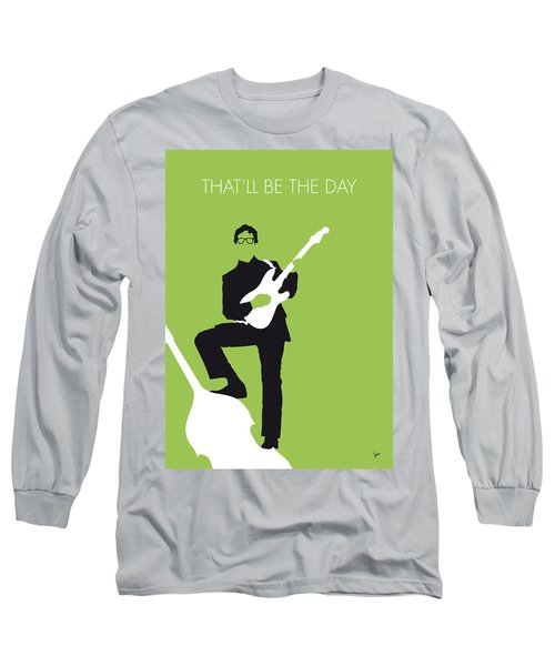 No056 My Buddy Holly Minimal Music Poster Long Sleeve T-Shirt by Chungkong Art