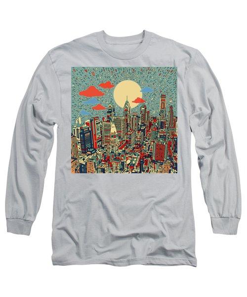 Philadelphia Dream 2 Long Sleeve T-Shirt by Bekim Art
