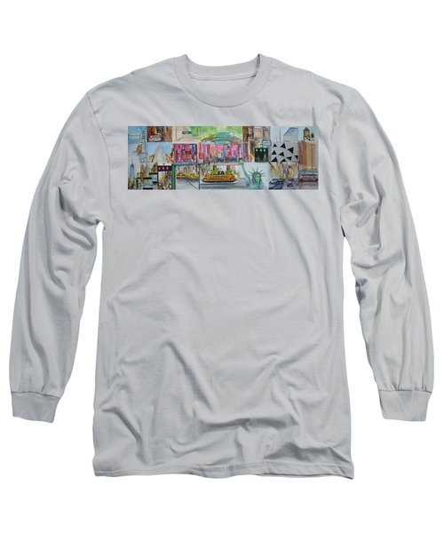 Postcards From New York City Long Sleeve T-Shirt by Jack Diamond